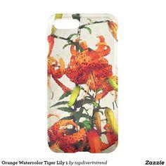 Orange Watercolor Tiger Lily 1 iPhone 7 Plus Case