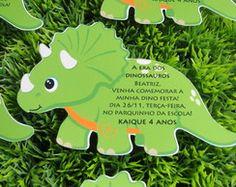 Convite Dino em formato especial