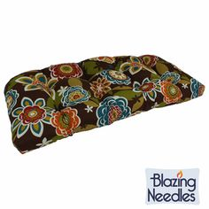 Blazing Needles 42x19-inch U-shaped Outdoor Tufted Loveseat/ Bench Cushion | Overstock.com Shopping - Big Discounts on Blazing Needles Outdoor Cushions & Pillows