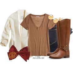 """""""Cute Back to School Outfit"""" by natihasi on Polyvore"""