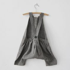 Gray Fine Stripes Playsuit