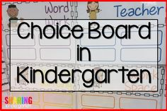 Choice Board in Kind