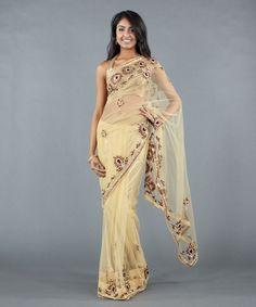"Indian Weddings Fashions. Luxemi.com Repinned by IndianWeddingsMag.com Luxemi | ""Sunburst"" Saree with Stone Work Border"