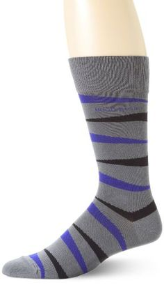 HUGO BOSS Men's Zebra Stripe Sock, Gray, One Size Large Hugo Boss Man, Striped Socks, Men's Underwear, My Man, Gentleman, Mens Fashion, Gray, Clothes, Style