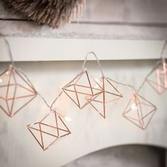 Are you interested in our Copper Geometric Fairy Lights? With our spring update copper fairy lights you need look no further. Rose Gold Room Decor, Rose Gold Rooms, Bedroom Decor For Couples, Home Decor Bedroom, Bedroom Ideas, Bedroom Furniture, Bed Ideas, Copper Bedroom Decor, Glam Bedroom
