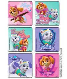 Sticker Pack - Paw Patrol Girl Pups - Favors or DIY Bags - Crafts