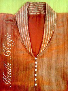 30 Stylish Potli button neck designs for kurtis and salwar suits Neck Designs For Suits, Neckline Designs, Fancy Blouse Designs, Dress Neck Designs, Designs For Dresses, Collar Designs, Salwar Kameez Neck Designs, Churidar Designs, Kurta Designs Women