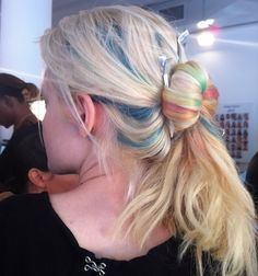 How to pull off pastel hair (and other cool beauty ideas from peter som's spring show).