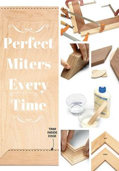 Perfect Miters Every Time: Pro tips for making perfect miters. http://www.familyhandyman.com/woodworking/perfect-miters-every-time