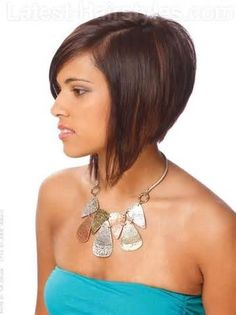 Stacked A Line Bob Medium Haircuts Side View