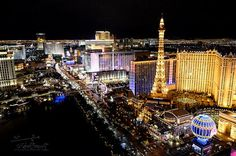 Travel Photography Las VEGAS Night Scape Urban City by AsqewCreative