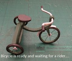 1;12 Bicycle-from wire and paper - tut