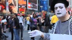 """Marc Raco as The Mime in the film """"Mime Flyer"""" by Eggwork Productions"""