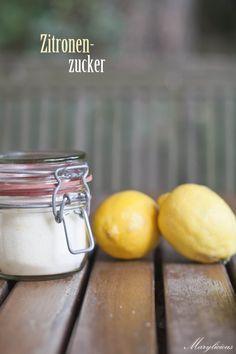 selbstgemachter Zitronenzucker ⋆ Marylicious