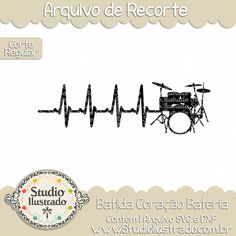 Regular Cut -Heartbeat Drums You will receive images in these formats: 1 SVG File 1 DXF File 1 File PNG or JPEG Color After payment completed, the link will appear to Download. All products are...