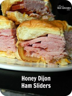 Honey Dijon Ham Sliders | www.momstestkitchen.com