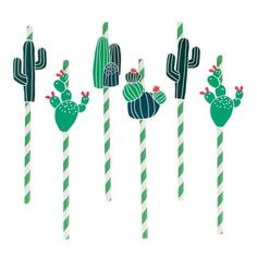 Cactus Party Straws By My Little Day