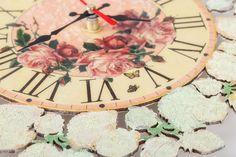 Wall clock Shabby chic Home & Living Home decor от LanaLightDecor