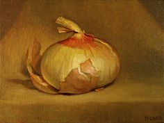 oil on canvas panel, Scientific Drawing, Onions, Oil On Canvas, Dan, Drawings, Painting, Food, Kitchen, Art