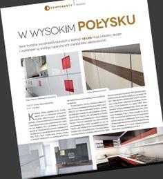 Piszą o nas... Gazeta Przemysłu Drzewnego MEBLARSTWO w tym miesiącu zamieściła artykuł o naszej nowej kolekcji VeLMA. Zapraszamy do zapoznania się z artykułem http://www.cordia.pl/aktualnosci/piszc-o-nas