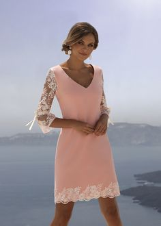 Linea Raffaelli 111 Santorini Collection — Any Occasion - Kleider Für Die Brautmutter Mother Of Bride Outfits, Mother Of Groom Dresses, Bride Groom Dress, Mothers Dresses, Young Mother Of The Bride, Mob Dresses, Sexy Dresses, Evening Dresses, Fashion Dresses