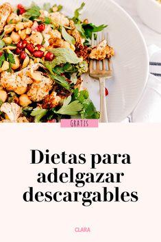 Pierde peso de manera saludable con estas dietas elaboradas por nuestra nutricionista Pasta Salad, Cobb Salad, Menu Dieta, Sin Gluten, Herbalife, Atkins, Healthy Recipes, Vegetables, Cooking
