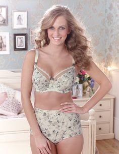 Delilah Bra by Fantasie in Ivory Print Bra available in sizes 30-40 D - F cup; 30-38 G - J cup; £32.00 Matching brief or high waisted brief available separately