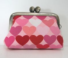 Small Coin Frame Pouch Hearts