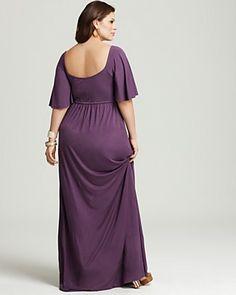 Rachel Pally White Label Plus Size Romeo Flutter Maxi Dress