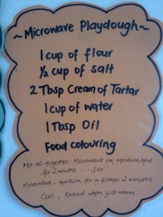 Microwave Play dough Science in a Blog: Early Childhood Education Fun Stuff