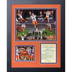 487332fb9bf Legends Never Die  Clemson Tigers 2016 College Football Champions Collage   Framed Memorabilia Cfp National