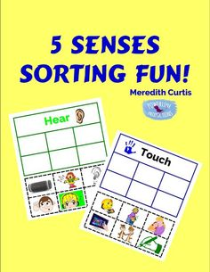 5 Senses Sorting Fun – Powerline Productions High School Classes, School Lessons, Matching Cards, Preschool Kindergarten, Cool Cards, Sorting, Kids Learning, Elementary Schools, Kids Playing