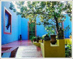 colorful  Frida Kalo House by Zé Eduardo..., via Flickr