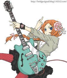 画像 : 【2次】女の子がギター弾いてる画像集めた - NAVER まとめ