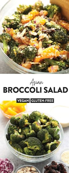 Are You Looking For A Fun Twist On Broccoli Salad? This Vegan Asian Broccoli Sal&; Are You Looking For A Fun Twist On Broccoli Salad? This Vegan Asian Broccoli Sal&; Best Chicken Salad Recipe, Caprese Salad Recipe, Salmon Salad Recipes, Chopped Salad Recipes, Greek Salad Recipes, Quinoa Salad Recipes, Vegetarian Recipes Easy, Delicious Vegan Recipes, Lunch Recipes