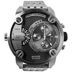 Diesel Men's DZ7259 Silver Stainless-Steel Quartz Watch with Grey Dial | Overstock.com Shopping - Big Discounts on Diesel Men's Diesel Watches