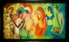 'Festive' - Oil on Canvas