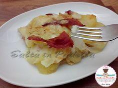 Un'idea #sfiziosa per #cena? Eccovi questa gustosa #parmigiana di #patate con #prosciutto cotto e #caciocavallo...:) http://saltainpadella.altervista.org/parmigiana-di-patate-con-prosciutto-cotto-e-caciocavallo/