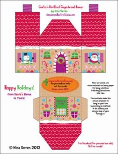 I disegnatori di We Love to Illustrate hanno messo on line gratuitamente sei splendidi modellini di casette di pan di zenzero per decorare l'Albero di Natale o la casa. Potete scegliere dal modello classico a quello più bizzarro e particolare. Poi basta stampare, tagliare, piegare e incollare! Clicca qui per effettuare il download.