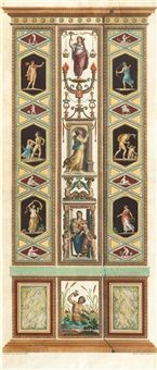 After Raphael Sanzio 1483-1520. Two depictions of pilasters of the loggias in the Vatican von Giovanni Volpato _BM