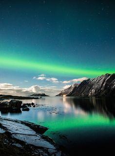 Auroras over Northern Norway, by Lorenzo Montezemolo