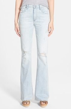 Citizens+of+Humanity+'Fleetwood'+High+Rise+Flare+Jeans+(Washed+Out)+available+at+#Nordstrom