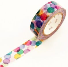 Washi Tape Single: Large Spots Red