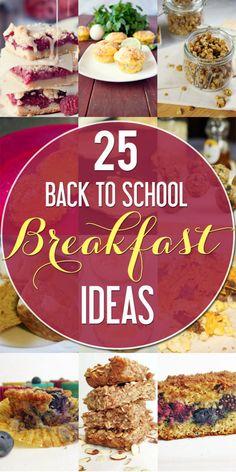 25 Make Ahead Breakfasts