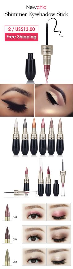 [Newchic Online Shopping] 2 For US$13 HENGFANG Shimmer Eyeshadow Stick