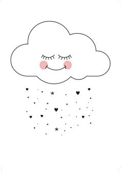 Sweet cloud Art Print by Eef Lillemor