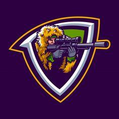 Illustration of sniper mascot Premium Vector The Sniper, Spartan Logo, Free Badges, Game Logo Design, Tee Design, Skin Logo, Mobile Logo, Esports Logo, Anime Songs