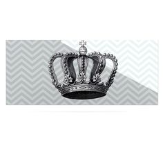 """Suzanne Carter """"Crown"""" Blue Black Luxe Rectangle Panel"""