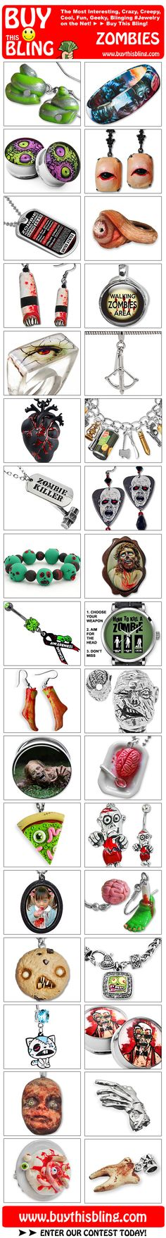 The Coolest Zombie Jewelry on the Web! :)