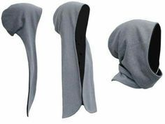 hooded scarf makin you look like the Grim Reaper Mehr Sewing Tutorials, Sewing Hacks, Sewing Crafts, Sewing Projects, Diy Crafts, Sewing Clothes, Diy Clothes, Sewing Shorts, Knitting Patterns